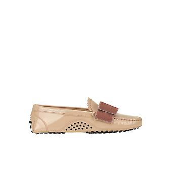 Tod's Ezgl027046 Women's Pink Patent Leather Loafers