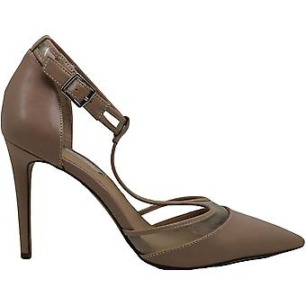 INC International Concepts Womens Kaeley Leather Pointed Toe Ankle Strap Classic Pumps