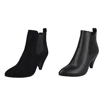 Spot On Womens/Ladies Elastic Gusset Ankle Boots