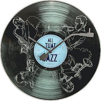 NeXtime - Wanduhr - ca. 43 cm - Glas - 'All that jazz'