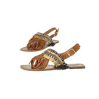 OndadeMar - Azteca Handmade Leather Sandals - Brown