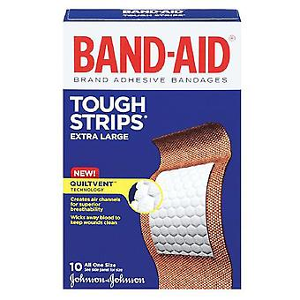 Band-aid tough strips bandages, quiltvent, one size, extra large, 10 ea