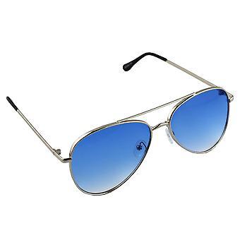 Óculos de Sol Masculino e Óculos de Sol Piloto Feminino - Prata/Blauw2704_6