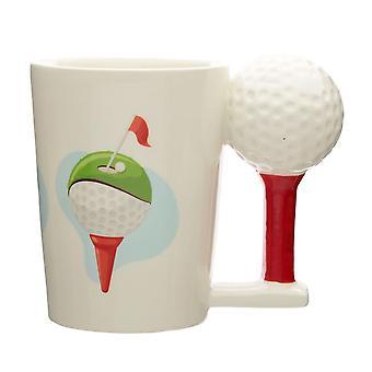 Puckator Golf Ball and Tee Shaped Handle Mug