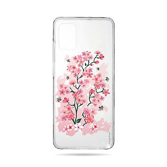 Hull For Samsung Galaxy A71 Fleksible kirsebærblomster