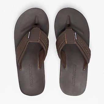 Jack & Jones Bob Mens Leather Flip Flops Java