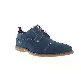 Ben Sherman Birk Cap Toe Mens Blue Mocka Casual Spets upp Oxfords Skor