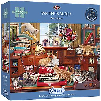 Gibsons 1000 Piece Writer'S Block  Jigsaw Puzzle