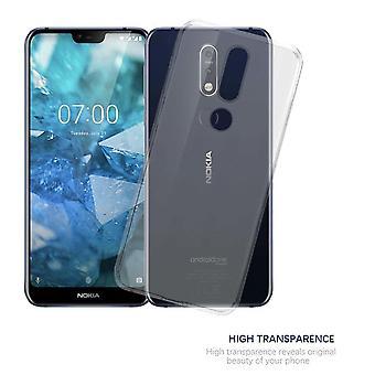 Cadorabo case voor Nokia 7.1 2018 case case cover - mobiele telefoon hoes gemaakt van flexibele TPU siliconen – siliconen hoesje Ultra Slim Soft Back Cover Case Bumper