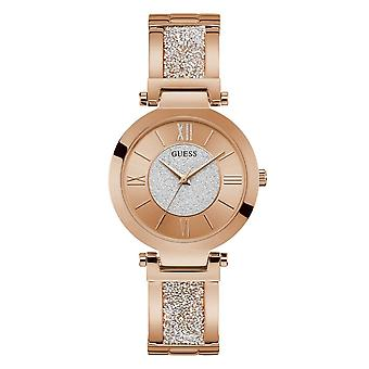 Guess Watches Ladies Stainless Steel Glitz Analog Watch W1288L3