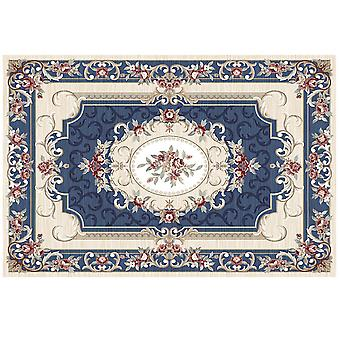 Square crystal velvet rug Baroque style carpet Colorful retro flower carpet for bedroom and living room