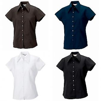 Russell Collection Womens/Ladies Short Cap Sleeve Tencel® Fitted Shirt
