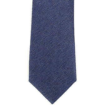 Michelsons Lontoon Grain semi Plain Silk tie-sininen