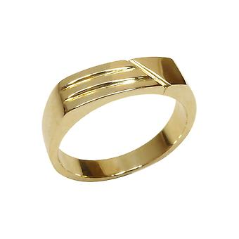 Christian yellow gold cachet ring