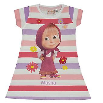 Masha and the bear girls dress stripes