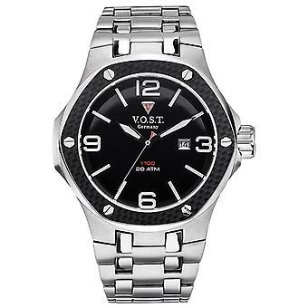 V.O.S.T. Germany V100.009 Men's Carbon Steel watch 44mm
