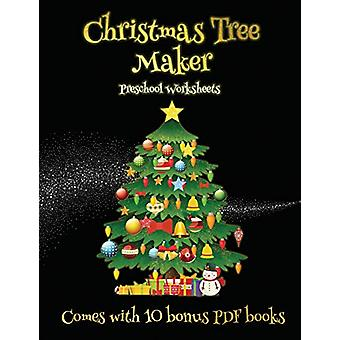 Preschool Worksheets (Christmas Tree Maker) - This book can be used to