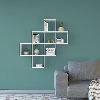 Weiße Farbe Davie Bücherregal in Melaminisch 115x22x115 cm