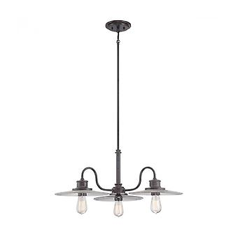 Admiral Pendant Light, Imperial Bronze, 3 Bulbs