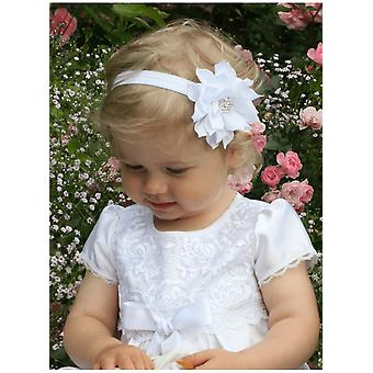 Baptismal Tiara With Optic White Rhinestone Flower - Grace Of Sweden