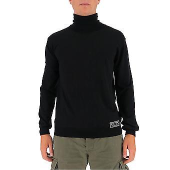 Valentino Uv3kc09n6kr0no Hombres's Suéter de lana negra