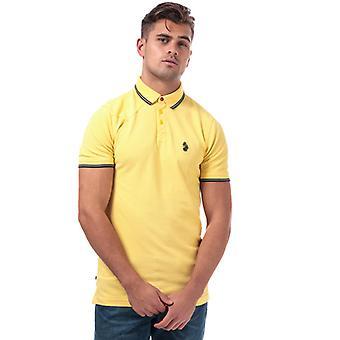 Men's Luke 1977 Tip Off Polo Shirt in Yellow