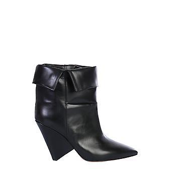Isabel Marant ÉToile Bo013600m113s01bk Women's Black Leather Enkellaarsjes