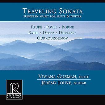 Viviana Guzman & Jeremy Jouve - Traveling Sonata: European Music for Flute & Guitar [CD] USA import
