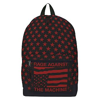 Rage Against The Machine Backpack Bag USA Stars Band Logo new Official Black