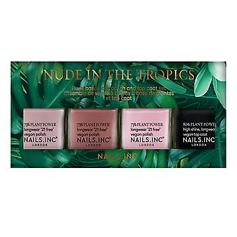 Nails inc Nail Polish Set - Nude In The Tropics Collection 4 X 14ml (25128)