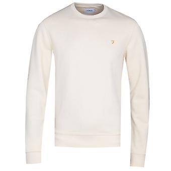 Farah Tim White Crew Neck Sweatshirt