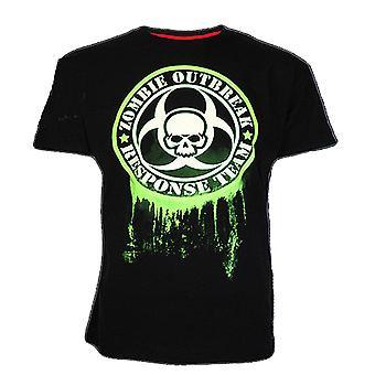 Darkside - zombie outbreak bio-hazard - mens glow in the dark t-shirt