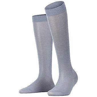 Falke Shiny Knee High Socks - Silver