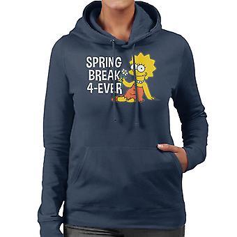 The Simpsons Spring Break 4ever Lisa-hættetrøje til kvinder