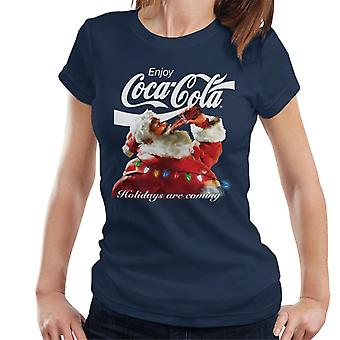 Coca Cola Holidays ovat tulossa valot naiset ' s T-paita