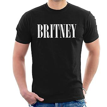 Britney Spears Text Men's T-Shirt