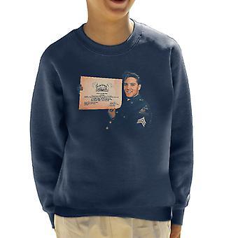 Elvis Presley US Army Certificate Kid's Sweatshirt