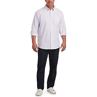 Essentials Men's Big & Tall Long-Sleeve Pocket Oxford Shirt fit by DXL...