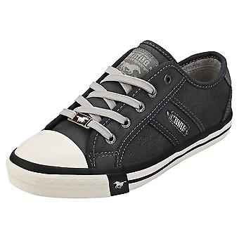 Mustang Lace-up Low Top Womens Casual Trainers in Graphite