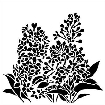 The Crafter's Workshop Lilacs 6x6 Inch Stencil