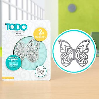 TODO Die Template Set Intricate Butterfly Small