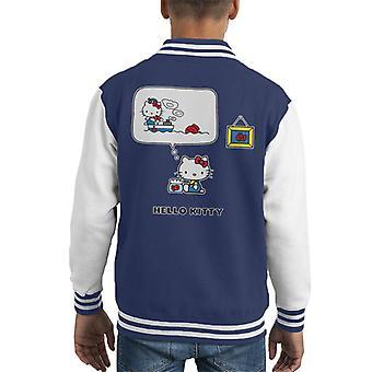 Hallo Kitty die Fischerinnen Kid's Varsity Jacke