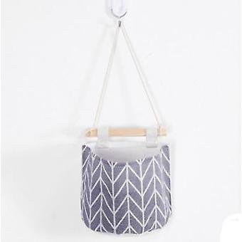 Cotton Linen Wall Hanging Storage Bags Door Pouch Bedroom Home Decor