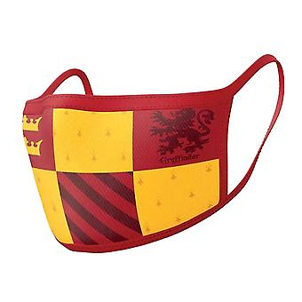 Harry Potter Face mask Gryffindor Official 2 pack Protective Washable Reusable