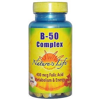 Nature-apos;s Life, Complexe B- 50, 100 tablettes