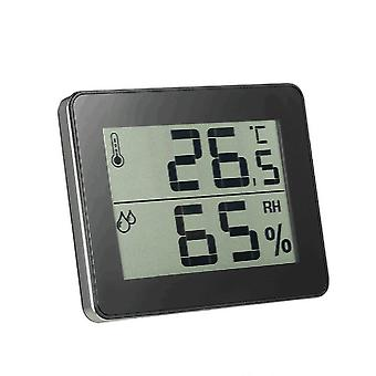 Household Digital Thermometer and Hygrometer Black and White