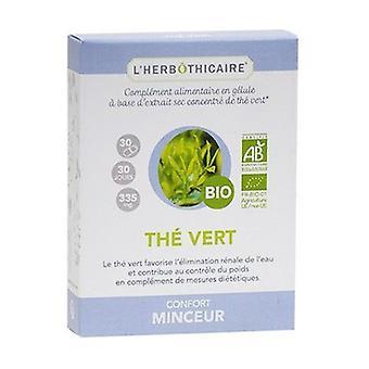Organic green tea 30 capsules of 335mg