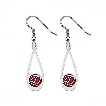 Sea Gems Mackintosh Rose Earrings - Red 7657r