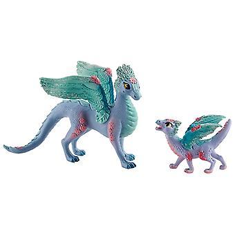 Schleich Bayala - Dragon de fleur avec le dragon de chéri