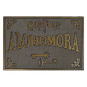 Harry Potter doormat rubber alohomora black/gold color, 100% rubber, non-slip.